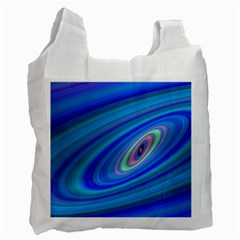 Oval Ellipse Fractal Galaxy Recycle Bag (one Side)