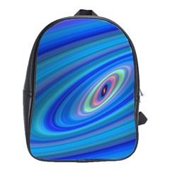 Oval Ellipse Fractal Galaxy School Bag (large)
