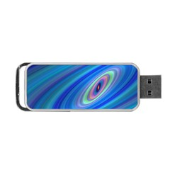 Oval Ellipse Fractal Galaxy Portable Usb Flash (one Side)