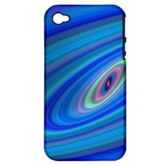 Oval Ellipse Fractal Galaxy Apple Iphone 4/4s Hardshell Case (pc+silicone)