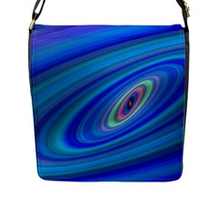 Oval Ellipse Fractal Galaxy Flap Messenger Bag (l)  by Nexatart