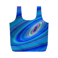 Oval Ellipse Fractal Galaxy Full Print Recycle Bags (m)