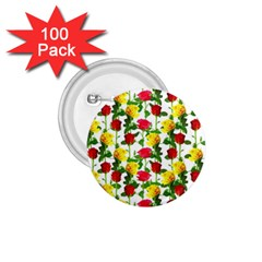 Rose Pattern Roses Background Image 1 75  Buttons (100 Pack)
