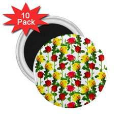 Rose Pattern Roses Background Image 2 25  Magnets (10 Pack)  by Nexatart