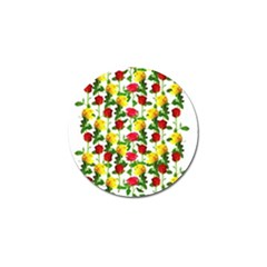 Rose Pattern Roses Background Image Golf Ball Marker (4 Pack)