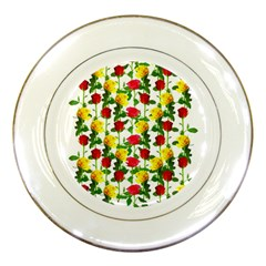 Rose Pattern Roses Background Image Porcelain Plates