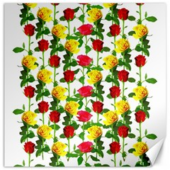 Rose Pattern Roses Background Image Canvas 20  X 20