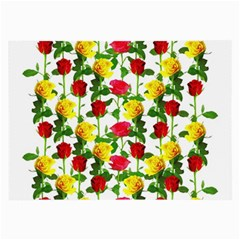 Rose Pattern Roses Background Image Large Glasses Cloth