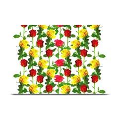 Rose Pattern Roses Background Image Plate Mats by Nexatart