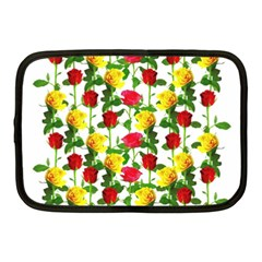 Rose Pattern Roses Background Image Netbook Case (medium)