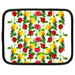 Rose Pattern Roses Background Image Netbook Case (large)
