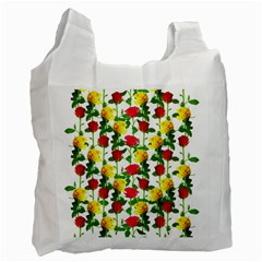 Rose Pattern Roses Background Image Recycle Bag (one Side) by Nexatart