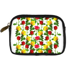 Rose Pattern Roses Background Image Digital Camera Cases