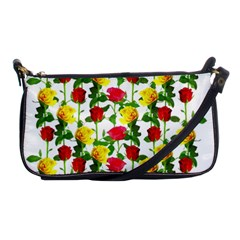 Rose Pattern Roses Background Image Shoulder Clutch Bags by Nexatart