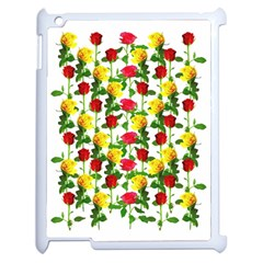 Rose Pattern Roses Background Image Apple Ipad 2 Case (white)
