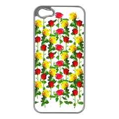 Rose Pattern Roses Background Image Apple Iphone 5 Case (silver)