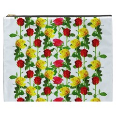 Rose Pattern Roses Background Image Cosmetic Bag (xxxl)