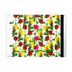 Rose Pattern Roses Background Image Apple Ipad Mini Flip Case