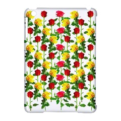 Rose Pattern Roses Background Image Apple Ipad Mini Hardshell Case (compatible With Smart Cover) by Nexatart