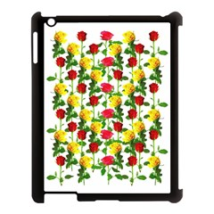 Rose Pattern Roses Background Image Apple Ipad 3/4 Case (black) by Nexatart