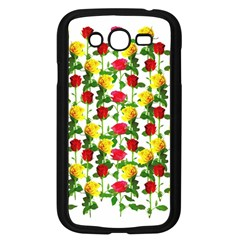 Rose Pattern Roses Background Image Samsung Galaxy Grand Duos I9082 Case (black)