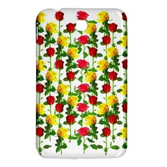 Rose Pattern Roses Background Image Samsung Galaxy Tab 3 (7 ) P3200 Hardshell Case  by Nexatart