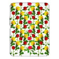 Rose Pattern Roses Background Image Samsung Galaxy Tab 3 (10 1 ) P5200 Hardshell Case  by Nexatart
