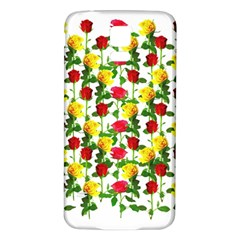 Rose Pattern Roses Background Image Samsung Galaxy S5 Back Case (white)
