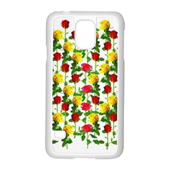 Rose Pattern Roses Background Image Samsung Galaxy S5 Case (white) by Nexatart