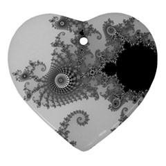 Apple Males Mandelbrot Abstract Ornament (heart) by Nexatart