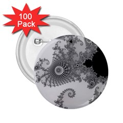 Apple Males Mandelbrot Abstract 2 25  Buttons (100 Pack)