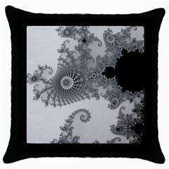 Apple Males Mandelbrot Abstract Throw Pillow Case (black) by Nexatart