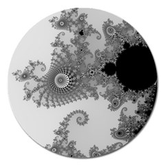 Apple Males Mandelbrot Abstract Magnet 5  (round)