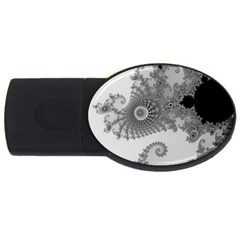 Apple Males Mandelbrot Abstract Usb Flash Drive Oval (2 Gb)