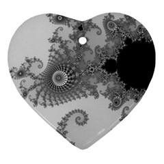 Apple Males Mandelbrot Abstract Heart Ornament (two Sides) by Nexatart