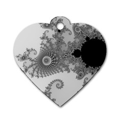 Apple Males Mandelbrot Abstract Dog Tag Heart (one Side)