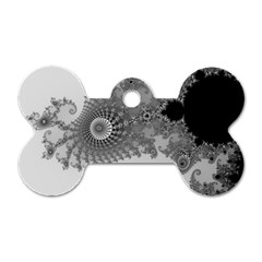Apple Males Mandelbrot Abstract Dog Tag Bone (two Sides) by Nexatart