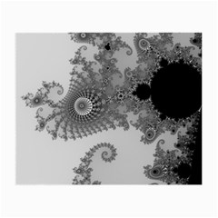 Apple Males Mandelbrot Abstract Small Glasses Cloth (2 Side)