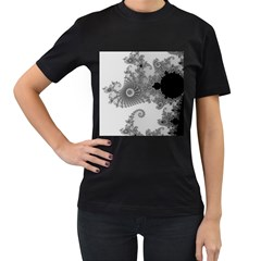 Apple Males Mandelbrot Abstract Women s T Shirt (black) by Nexatart