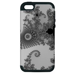 Apple Males Mandelbrot Abstract Apple Iphone 5 Hardshell Case (pc+silicone)