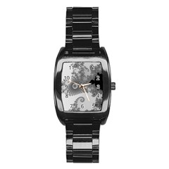 Apple Males Mandelbrot Abstract Stainless Steel Barrel Watch