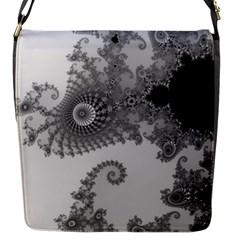 Apple Males Mandelbrot Abstract Flap Messenger Bag (s) by Nexatart