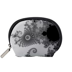 Apple Males Mandelbrot Abstract Accessory Pouches (small)