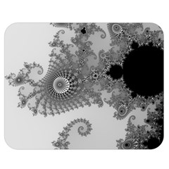 Apple Males Mandelbrot Abstract Double Sided Flano Blanket (medium)  by Nexatart