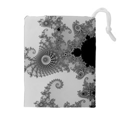 Apple Males Mandelbrot Abstract Drawstring Pouches (extra Large)