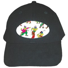Golfers Athletes Black Cap by Nexatart