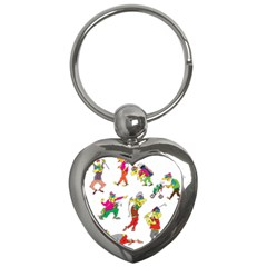 Golfers Athletes Key Chains (heart)  by Nexatart