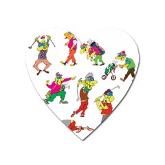Golfers Athletes Heart Magnet by Nexatart