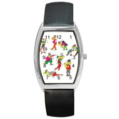 Golfers Athletes Barrel Style Metal Watch by Nexatart