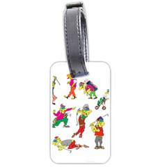 Golfers Athletes Luggage Tags (one Side)  by Nexatart